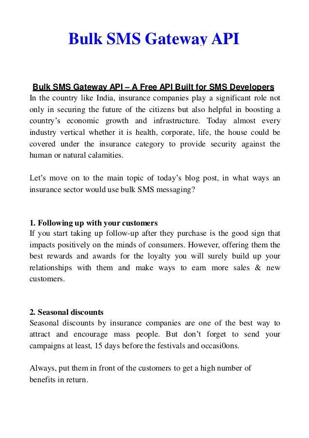 Bulk SMS Gateway API – A Free API Built for SMS Developers