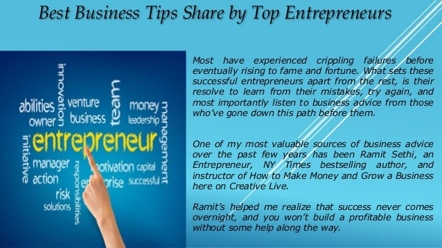 Best Business Tips Share By Top Entrepreneurs