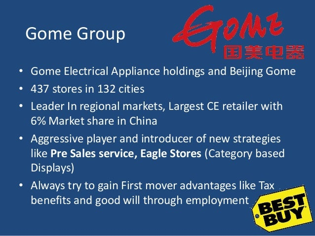 gome electrical appliance holding limited case study Technology & operations case study benjamin yen  gome electrical appliances holding limited:  in 1987 to the industry leader in electrical and home appliance.