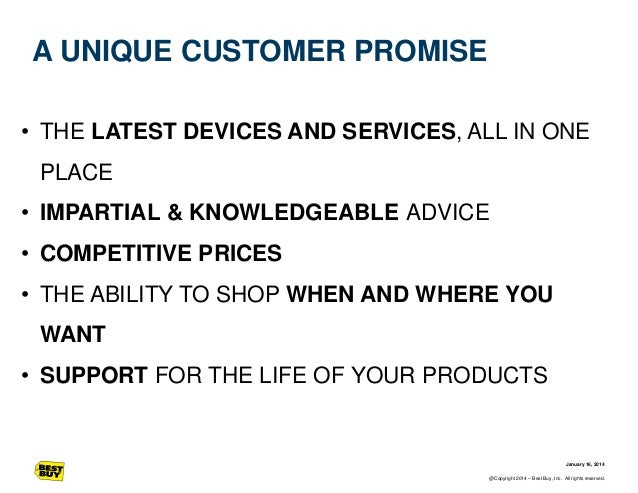 A UNIQUE CUSTOMER PROMISE • THE LATEST DEVICES AND SERVICES, ALL IN ONE PLACE  • IMPARTIAL & KNOWLEDGEABLE ADVICE • COMPET...