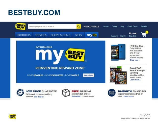 BESTBUY.COM  January 16, 2014 @Copyright 2014 – Best Buy, Inc. All rights reserved.