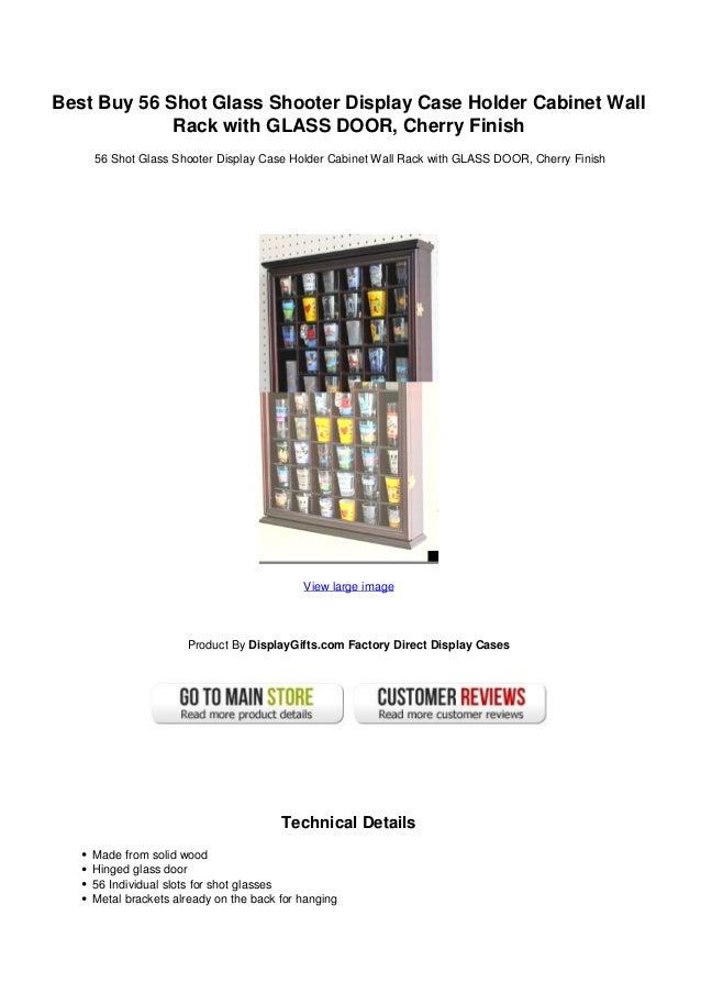 Best Buy 56 Shot Glass Shooter Display Case Holder Cabinet Wall Rack