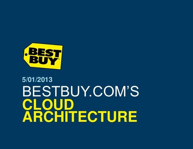 5/01/2013  BESTBUY.COM'S CLOUD ARCHITECTURE