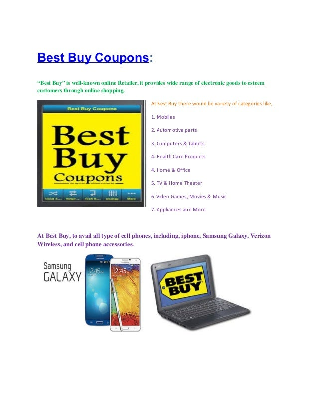"Best Buy Coupons: ""Best Buy"" is well-known online Retailer, it provides wide range of electronic goods to esteem customers..."