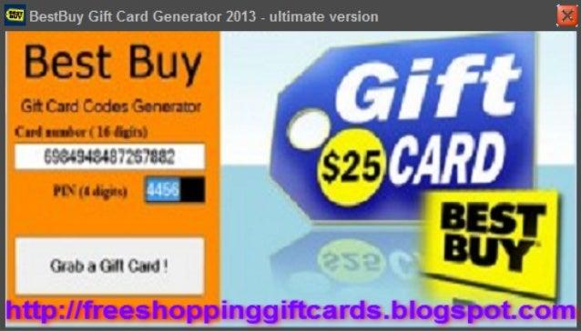 Best Buy Gift Card Generator 2013