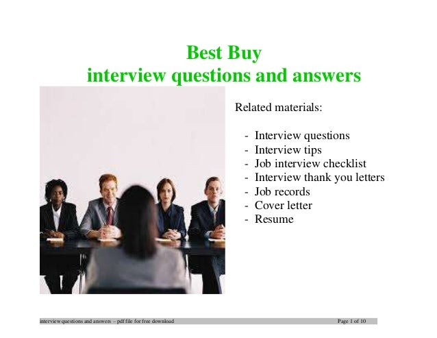 Best Buy Interview Questions And Answers
