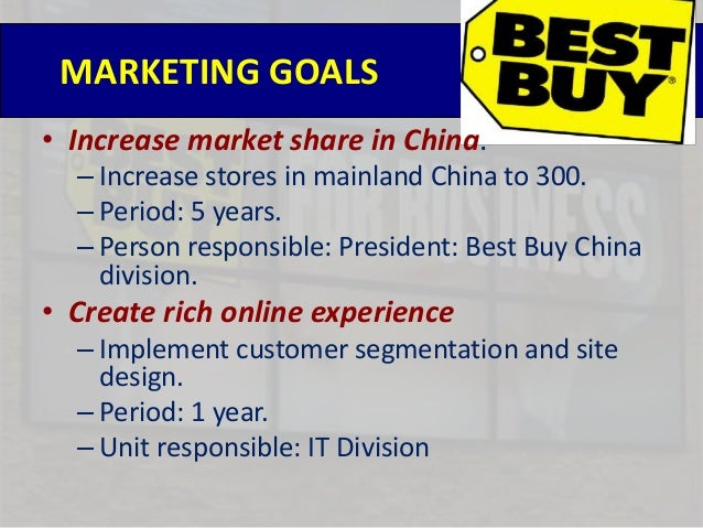 best buy marketing plan Customers shop products in best buy stores but ultimately buy product cheaper from online-only competitors enhance customer rewards program new product launches by major vendors implementation control best buy executive leadership should review this marketing plan quarterly to track the marketing strategy.