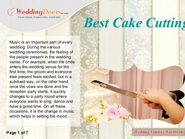 best cake cutting song ideas
