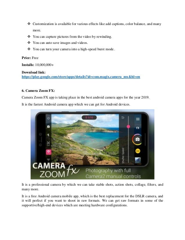 Best camera apps for android to click quality snaps 2019