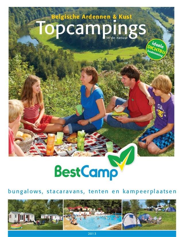 Belgische Ardennen & Kust  Topcampings in de natuur  id DIC eale bes HTB tem I min J g  bungalows, stacaravans, tenten en ...