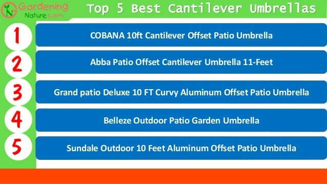 65a13ab9a009 Best Cantilever Umbrella 2018: Top 5 Picks (That Actually Works)