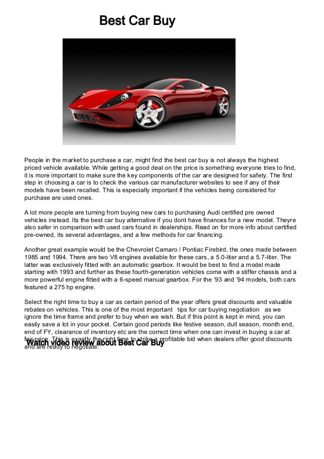 Best Car Buy