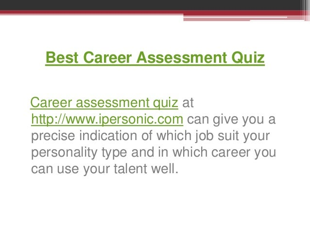 Career Assessment Quiz  Template