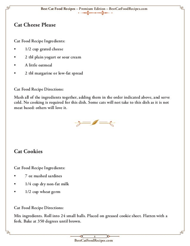 Cat food recipe food best cat food recipes premium edition 1st 10 pages forumfinder Choice Image