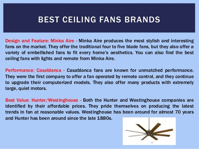 4. BEST CEILING FANS BRANDS ...