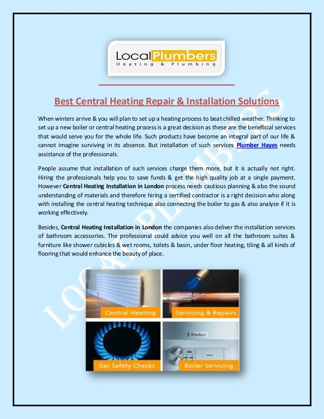 Best Central Heating Repair & Installation Solutions