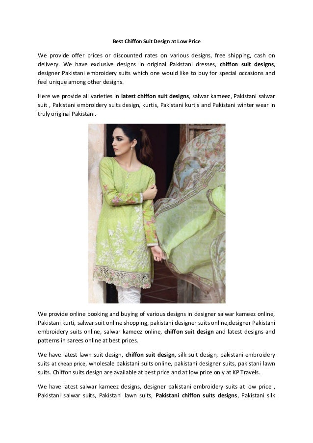 1f7e564aaceef Best chiffon suit design at low price