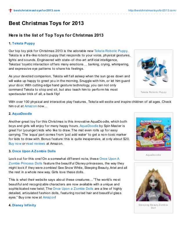 Most Popular Christmas Toys For 2013 : Best christmas toys for