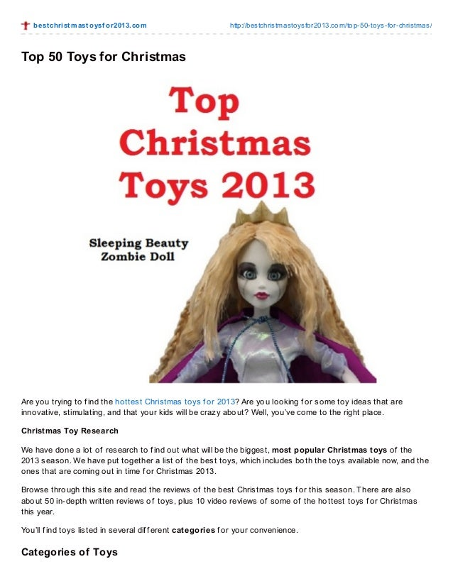 Most Popular Christmas Toys For 2013 : Top toys for christmas