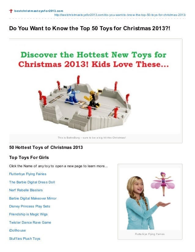 Cool Toys For Christmas 2013 : Do you want to know the top toys for christmas