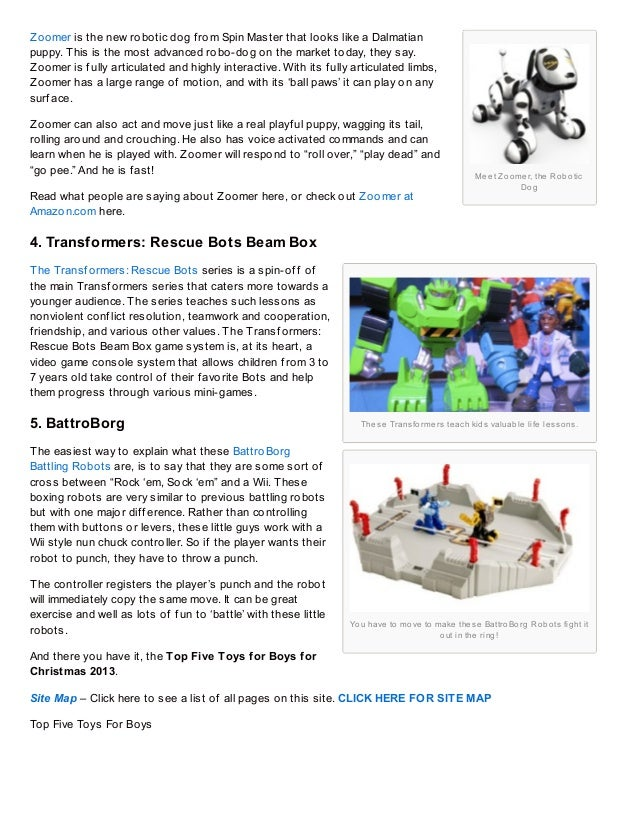 2013 Best Toys For Boys : Top five toys for boys christmas