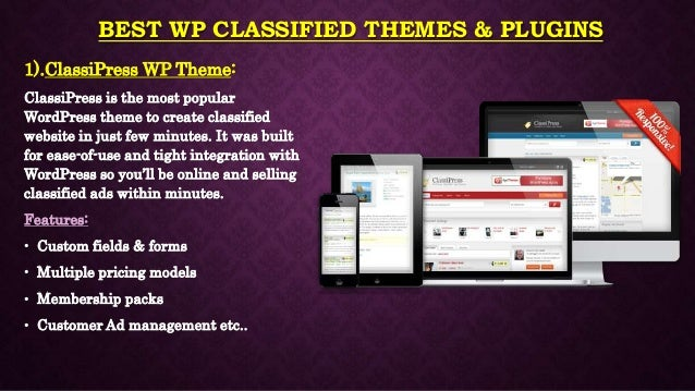 Best Classified WordPress Themes & Plugins