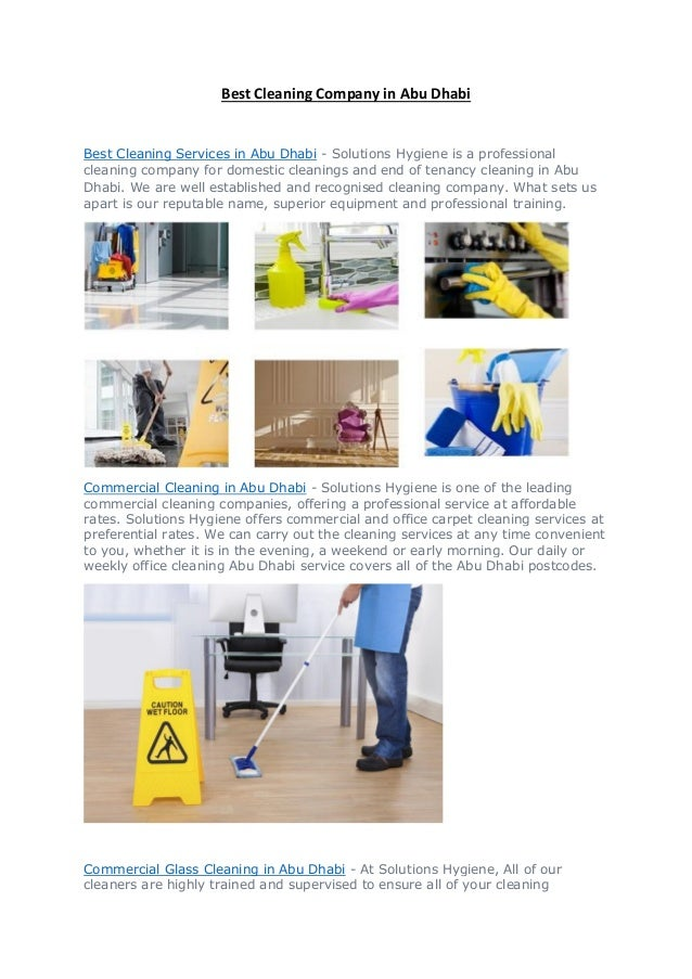 Best cleaning company in Abu Dhabi