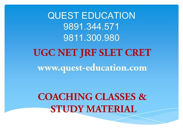 UGC NET English - UGC NET English
