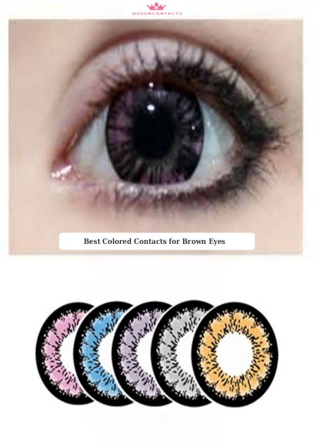 Best colored contacts for brown eyes