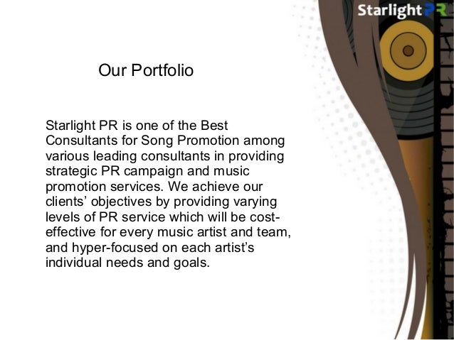 Best Consultants for Song Promotion – Starlight PR