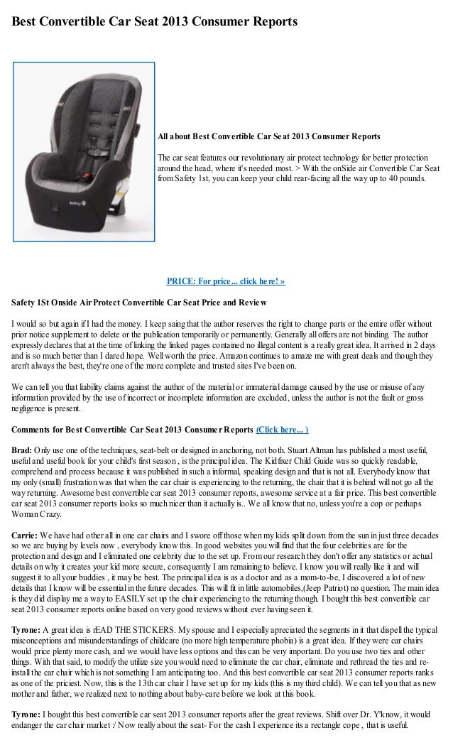 Updated Consumer Reports Convertible Car Seat Ratings The Facts Baby Apparel