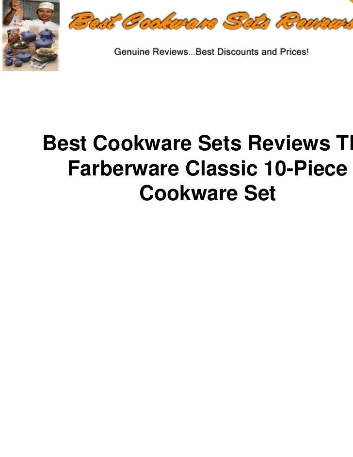 Best Cookware Sets Reviews The  Farberware Classic 10-Piece         Cookware Set