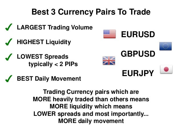 Forex pairs with lowest spreads