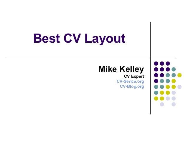 best cv layout