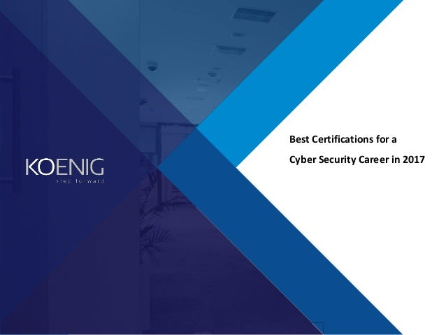 best cyber security certifications 2017