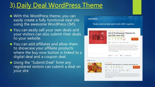 Best Daily Deals WordPress Themes & Plugins (Groupon Clone)