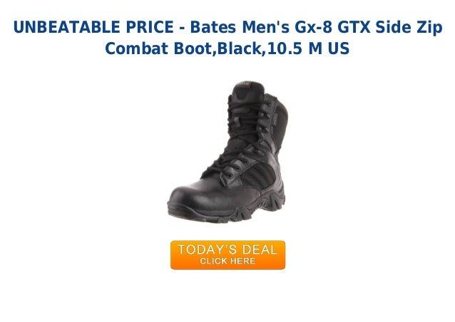 UNBEATABLE PRICE - Bates Mens Gx-8 GTX Side ZipCombat Boot,Black,10.5 M US