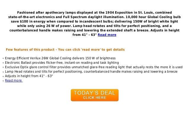 Best Deal Verilux Brookfield Deluxe Full Spectrum Floor Lamp Brushe