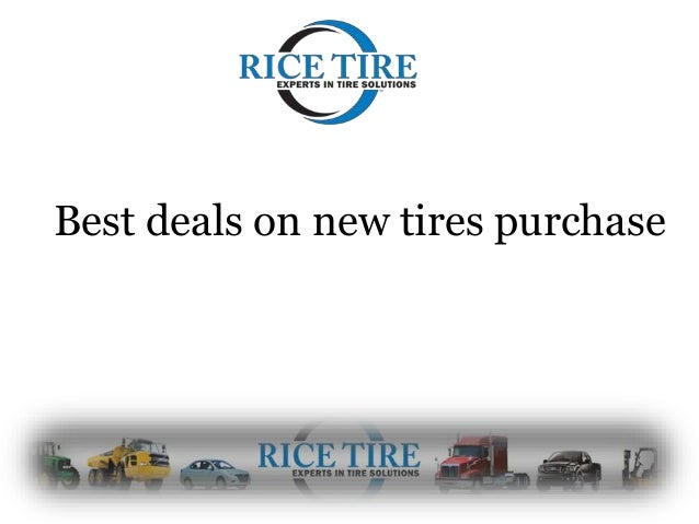 Deals On Tires >> Best Deals On New Tires Purchase
