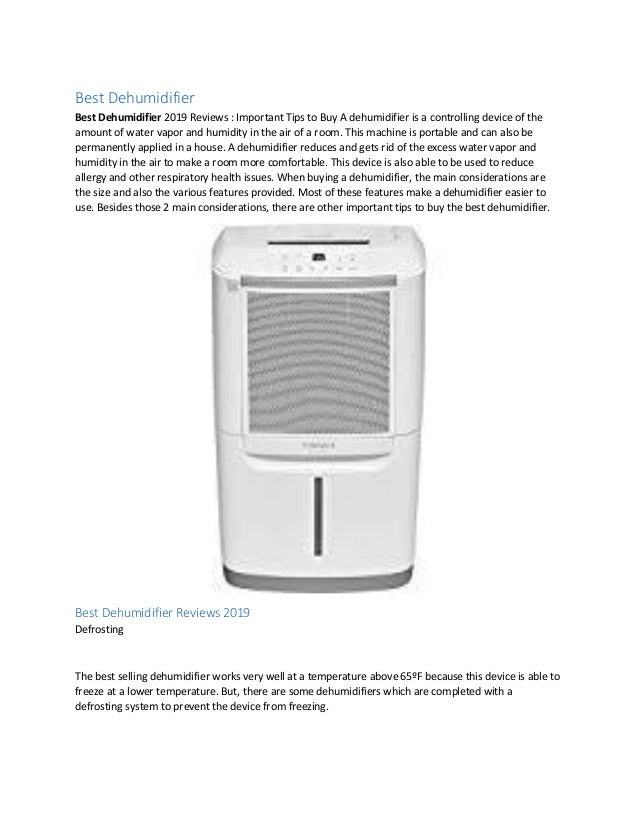 Best dehumidifier reviews on