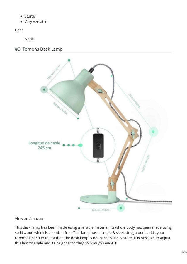 Best Desk Lamps For Eyes In 2019 Reviews