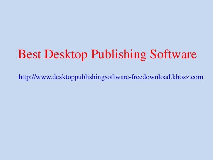 Best desktop publishing software