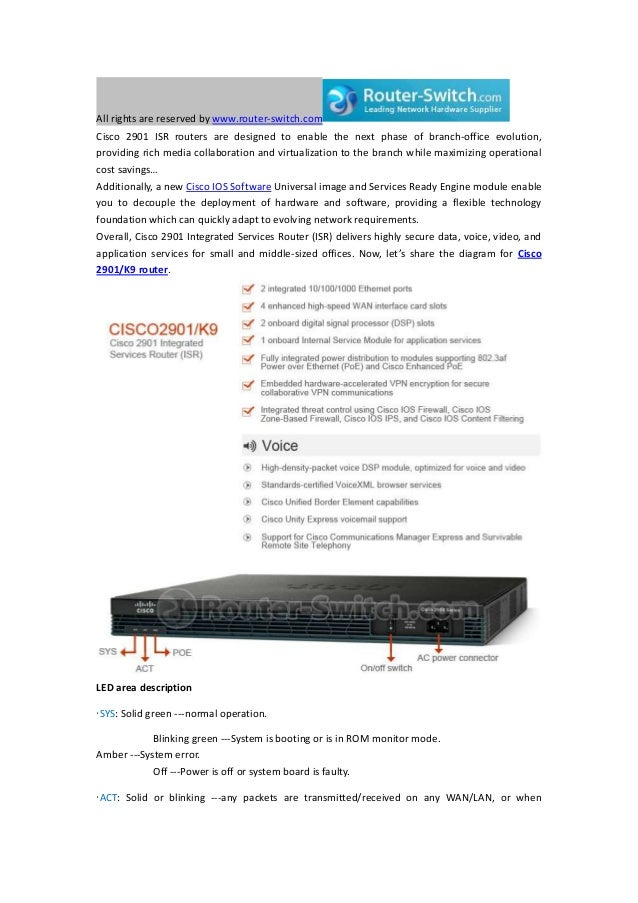 best diagram for cisco 2901 k9 router specs