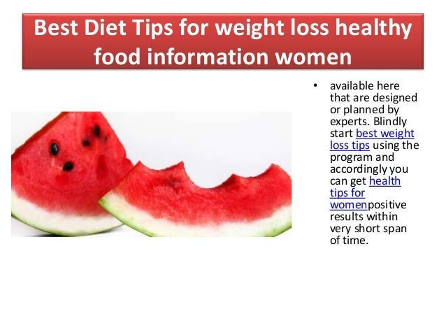 Slimming Tips Diet Foods