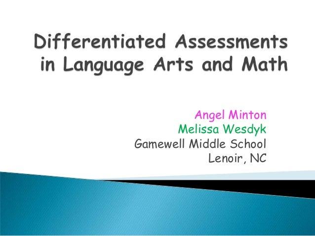 Angel Minton      Melissa WesdykGamewell Middle School            Lenoir, NC