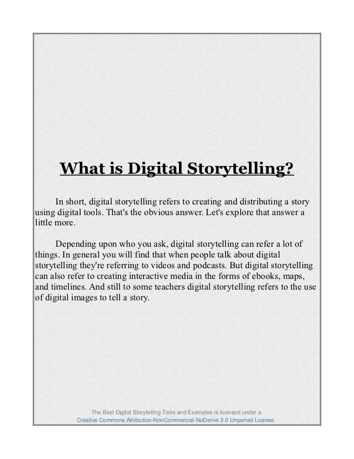 Best digital storytelling pdf 3 fandeluxe Gallery
