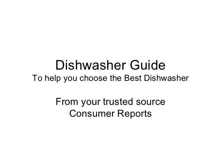 Best Dishwasher | Dishwasher Guide