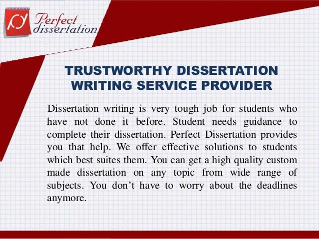No 1 Custom Dissertation Writing & Editing Service