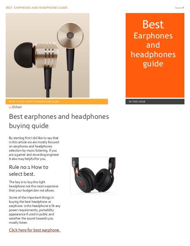 Best Guide To Buy A Best Earphone Headphone