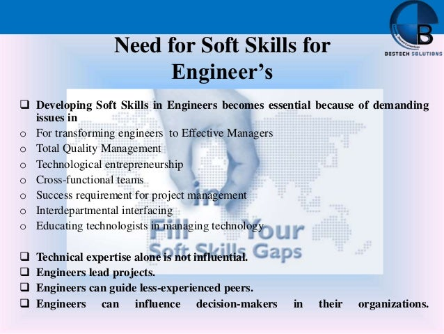 Bestech soft skills ppt for I need an engineer